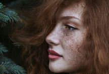 Redhead and freckles photo