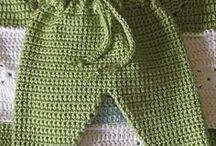 pantalón crochet bebé