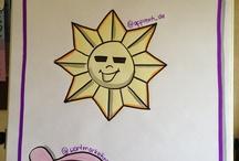 Sonne satt - am Flipchart / Spontanes Visual Facilitating - nach einem Tweet von Sandra Dirks