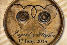 Esküvő / Wooden presents by personal ideas for weddings ... Fából készült ajándékok egyedi elképzelések alapján, esküvőre, házasságkötésre...