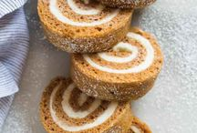 Pumpkin roll using parchment paper