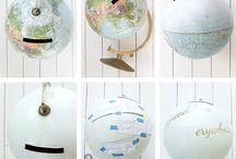 Globes tirelire