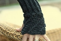 Crochet gloves, mittens