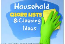Frugal Homemade Cleaners / Frugal Homemade Cleaners including homemade laundry detergent, homemade stain removers, bathroom cleaners, hand soap, and more tips and helps!