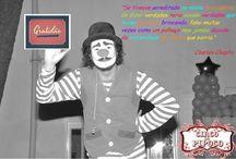 Pipoco / Foto do palhaço Pipoco em suas brincadeiras, piadas e travessuras com muita alegria