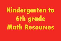 Math Resources K-6 / Elementary math resources for kindergarten through 6th grade. Please only pin related content. Free and priced resources.