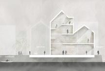 Architektur Zeichnungen, Skizzen, Modelle