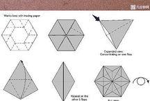 origami na zimę
