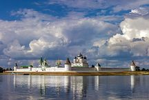 Russian monasteries and churches.