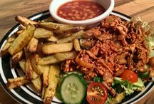 Chicken fajita with chips / Slimming world
