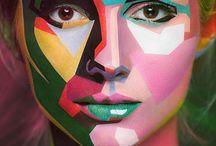 Coloured faces