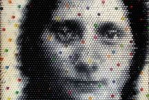 Christian Faur / American artist Christian Faurs portraits made from thousands of crayons.