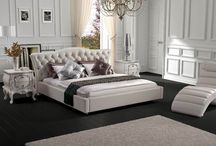 This Contemporary White Leatherette Bed will look unique in your guest bedroom with its design.