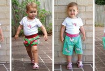 Baby Shorts & Bloomers Pattern Hack - convert Baby & Toddler Harem Pants pattern / Baby Shorts & Bloomers Pattern Hack - convert Baby & Toddler Harem Pants pattern