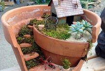 Tontopf bepflanzt