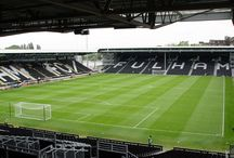 The BOX Seat at Craven Cottage / The BOX Seat VIP models at the players' dugout at the home ground of Fulham FC.