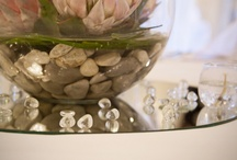 Table decoration with fynbos flowers