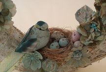 Mon travail / Mes réalisations décoratives et artistiques en peinture, scrapbooking, etc...