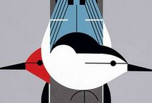 Charley Harper / Charley Harper (August 4, 1922 - June 10, 2007) was a Cincinnati-based American Modernist artist, best known for his highly stylized wildlife prints, posters and book illustrations. / by Juliet Townsend