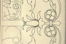 Cusack's freehand ornament. / ornamenek mintái, tervezéseik...
