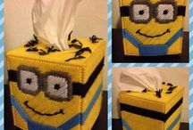 Plastic Canvas-Minions / by Michelle Haigh