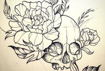 Tattoo and skulls