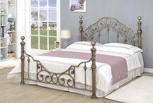 Metal Bed Frame Luxury Double Large Big Elegant Design Classic Vintage Beautiful