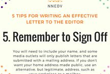 Write a Letter to the Editor / Letters to the editor allow you to share your passion and persuade others on hot topics. Learn about purpose, timing, brevity, conviction, and sign off.