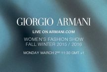 Giorgio Armani Fall / Winter 2015-2016 Womenswear / by ARMANI
