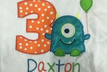Daxton 3rd birthday monster / Monster theme for the little monster!! :)