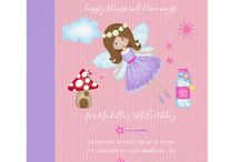 Fairy themed Girl Birthday party suite / Pink Fairies theme Birthday package customizable to your event specifics.
