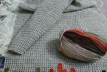 Вышивка на вязанном полотне