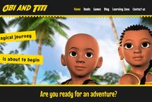 Obi and Titi Website / The Obi and Titi website is an educational site based on the stories of two adventurous young children. Here, you can learn the true story of  Africa's role in early civilisation through stories, games and animation.
