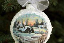 Decoupage vianočné ozdoby