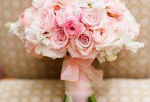 różowe bukiety / bukiet ślubny