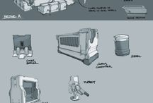 sci-fi props and Environment