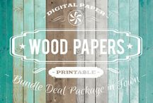 WOOD PAPERS / DIGITAL PAPERS - WOOD PAPERS  BY DIGITAL PAPER SHOP