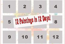 12 Paintings in 12 Days! / Oil paintings on 12x12 canvases