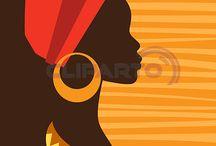 siluetas de mujeres africanas