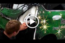 Finishing touches to jack and the beanstalk promotional car for Tempest Ford.