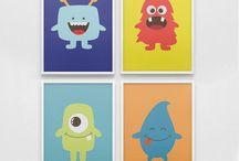 Bold & Colorful Boys Room Nursery Decor