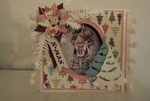 Pastel kleurige kerstkaarten