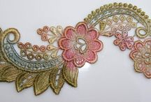 Hand coloured Lace