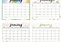 Calenders of 2017 / Free printables (monthly) calenders of 2016