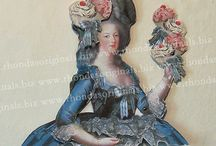 Marie Antoinette / Art references for crafting in Marie style. Some of my Marie paper dolls are here, too.