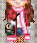 Cross stitch dolls  / by Susanna Coetzee