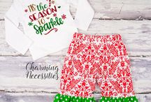Christmas Holiday Baby Todler Girl Outfits