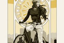 Favorite Bike Art & Graphics / by Women On Bikes California