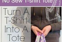 Kid crafts / No sew t-shirt bag