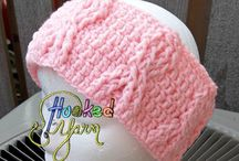 Crochet - knitted ear warmers